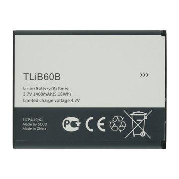 باتری اورجینال آلکاتل TLiB60B ظرفیت 1400 میلی آمپر ساعت-1