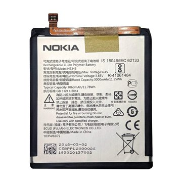 باتری اورجینال نوکیا 6.1 مدل HE345 ظرفیت 3000 میلی آمپر ساعت