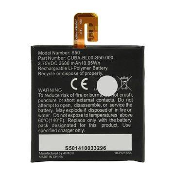باتری اورجینال کاترپیلار S50 مدل CUBA-BL00-S50-000 ظرفیت 2680 میلی آمپر ساعت-1