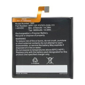 باتری اورجینال کاترپیلار S60 مدل APP-12F-F5757I-CGX-111 ظرفیت 3800 میلی آمپر ساعت -1