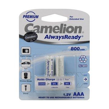 باتری نیم قلمی قابل شارژ کملیون مدل Always Ready ظرفیت 800 میلی آمپر ساعت بسته 2 عددی - 1
