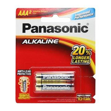 باتری نیم قلمی پاناسونیک مدل LR03T/2B بسته 2 عددی - 1