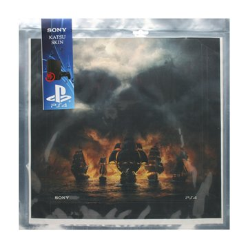 خرید برچسب PS4 اسلیم سونی طرح Skull and Bones افقی - 1