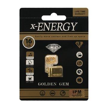 فلش مموری ایکس انرژی مدل Golden GEM ظرفیت 16 گیگابایت - 1