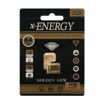 فلش مموری ایکس انرژی مدل Golden GEM ظرفیت 64 گیگابایت - 1