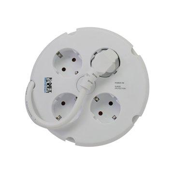 محافظ برق 4 خانه کی نت پلاس مدل KP-PS02-SPD طول 1.5 متر - 1