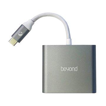 هاب اورجینال 3 پورت Type-C به USB 3.0 / Type-C / HDMI بیاند مدل BA-410 - 1