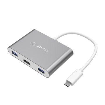 هاب چند کاره Type-C به USB 3.0 / HDMI / Type-C اوریکو مدل RCH3A - 1