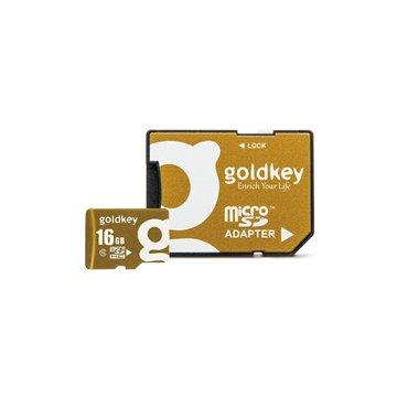 کارت حافظه Micro SDHC گلد کی استاندارد UHS-I U1 ظرفیت 16 گیگابایت کلاس 10 با آداپتور - 1