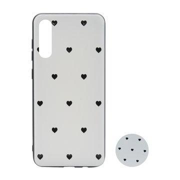 کاور پیونی مدل سامسونگ گلکسی A70 طرح Tiny hearts همراه با پاپ سوکت