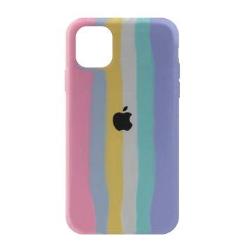 کاور TPU سیلیکونی پروتیا مدل اپل آیفون 11 طرح رنگین کمان Cold