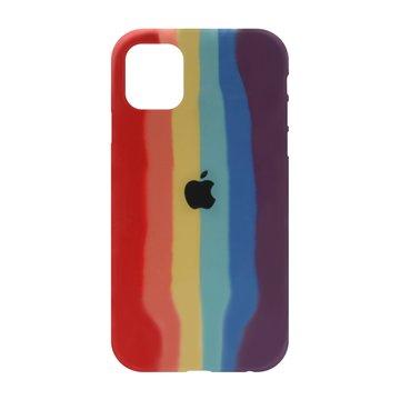 کاور TPU سیلیکونی پروتیا مدل اپل آیفون 11 طرح رنگین کمان Warm