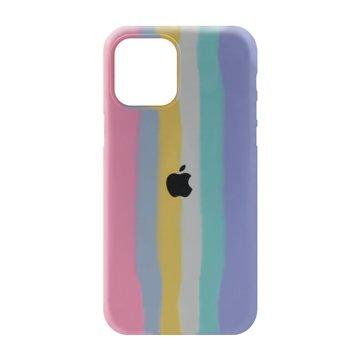 کاور TPU سیلیکونی پروتیا مدل اپل آیفون 12 پرو مکس طرح رنگین کمان Cold