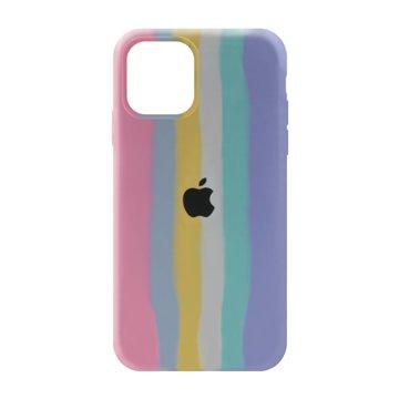 کاور TPU سیلیکونی پروتیا مدل اپل آیفون 12 / 12 پرو طرح رنگین کمان Cold