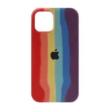 کاور TPU سیلیکونی پروتیا مدل اپل آیفون 12 / 12 پرو طرح رنگین کمان Warm