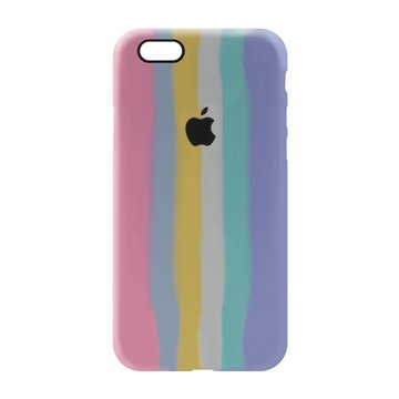 کاور TPU سیلیکونی پروتیا مدل اپل آیفون 6/6s طرح رنگین کمان Cold