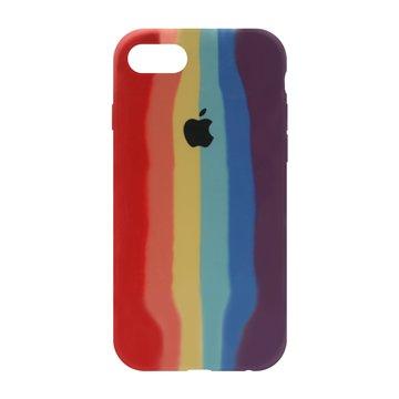 کاور TPU سیلیکونی پروتیا مدل اپل آیفون 7 / 8 طرح رنگین کمان Warm