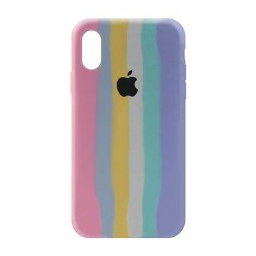 کاور TPU سیلیکونی پروتیا مدل اپل آیفون XS / X طرح رنگین کمان Cold