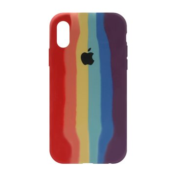 کاور TPU سیلیکونی پروتیا مدل اپل آیفون XS / X طرح رنگین کمان Warm