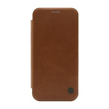 کیف کلاسوری چرمی نیلکین مدل Qin اپل آیفون 12 / 12 پرو-1