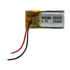 باتری 3.7 ولت اورجینال مدل 350926 ظرفیت 100 میلی آمپر ساعت-1