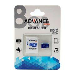 کارت حافظه Micro SDHC ادونس مدیا X466 ظرفیت 8 گیگابایت کلاس 10 با آداپتور