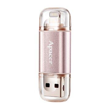 فلش مموری USB 3.1 و لایتنینگ اپیسر مدل AH190 ظرفیت 64 گیگابایت
