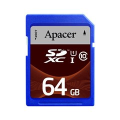 کارت حافظه SDXC اپیسر استاندارد UHS-I U1 ظرفیت 64 گیگابایت کلاس 10 - 1