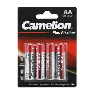 باتری قلمی کملیون مدل Plus Alkaline LR6 بسته 4 عددی