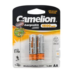 باتری قلمی قابل شارژ کملیون مدل HR6 ظرفیت 1500 میلی آمپر ساعت بسته 2 عددی