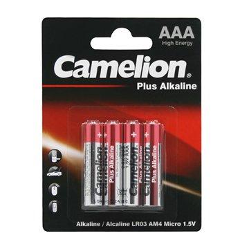 باتری نیم قلمی کملیون مدل Plus Alkaline LR03 بسته 4 عددی