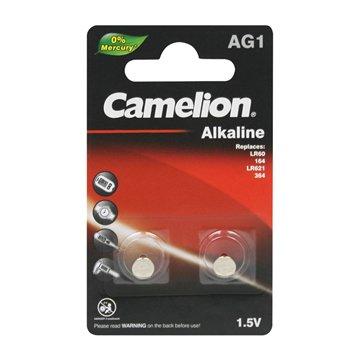 باتری سکه ای کملیون مدل AG1 بسته 2 عددی