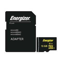 کارت حافظه Micro SDHC انرجایزر مدل HighTech استاندارد UHS-1 ظرفیت 16 گیگابایت کلاس 10 با آداپتور