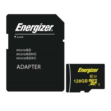 کارت حافظه Micro SDXC انرجایزر مدل HighTech استاندارد UHS-I ظرفیت 128 گیگابایت کلاس 10 با آداپتور
