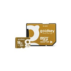 کارت حافظه Micro SDHC گلد کی استاندارد UHS-I U1 ظرفیت 16 گیگابایت کلاس 10 با آداپتور