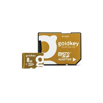 کارت حافظه Micro SDHC گلد کی استاندارد UHS-I U1 ظرفیت 8 گیگابایت کلاس 10 با آداپتور