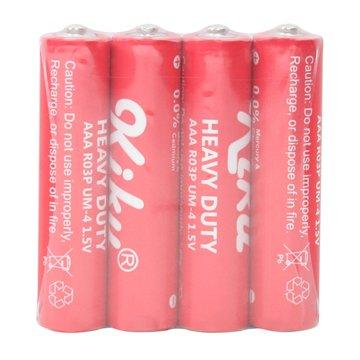 باتری نیم قلمی کیکو مدل Heavy Duty R03P بسته 4 عددی