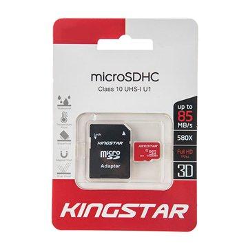 کارت حافظه Micro SDHC کینگ استار استاندارد UHS-I U1 ظرفیت 32 گیگابایت کلاس 10 با آداپتور