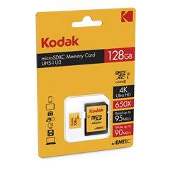 کارت حافظه Micro SDXC کداک استاندارد UHS-I U3 ظرفیت 128 گیگابایت کلاس 10با آداپتور - 1