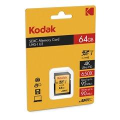 کارت حافظه SDXC کداک استاندارد UHS-I U3 ظرفیت 64 گیگابایت کلاس 10 - 1