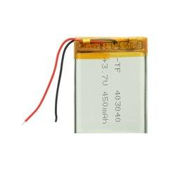 باتری 3.7 ولت ظرفیت 450 میلی آمپر ساعت - 1