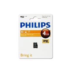 کارت حافظه Micro SDHC فیلیپس ظرفیت 4 گیگابایت کلاس 10 - 1