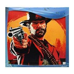 برچسب پلی استیشن 4 پرو سونی طرح Red Dead Redemption افقی - 1