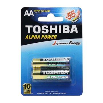 باتری قلمی توشیبا مدل Alpha Power BP-2 بسته 2 عددی - 1