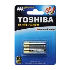 باتری نیم قلمی توشیبا مدل Alpha Power BP-2 بسته 2 عددی - 1