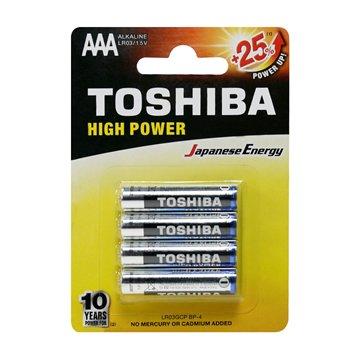 باتری نیم قلمی توشیبا مدل High Power BP-4 بسته 4 عددی - 1