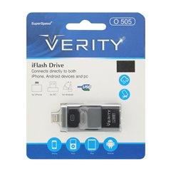 فلش مموری USB و لایتنینگ و MicroUSB وریتی مدل O 505 ظرفیت 64 گیگابایت -1