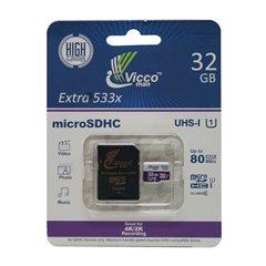 کارت حافظه Micro SDHC ویکومن Extra 533X استاندارد UHS-I U1 ظرفیت 32 گیگابایت کلاس 10 با آداپتور - 1