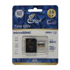 کارت حافظه Micro SDHC ویکومن Final 600X استاندارد UHS-I U3 ظرفیت 16 گیگابایت کلاس 10 با آداپتور - 1