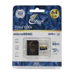 کارت حافظه Micro SDXC ویکومن Final 600X استاندارد UHS-I U3 ظرفیت 64 گیگابایت کلاس 10 با آداپتور